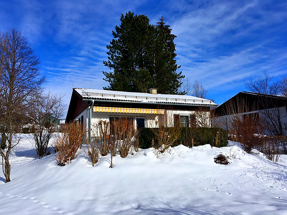 Das Haus im Winter: