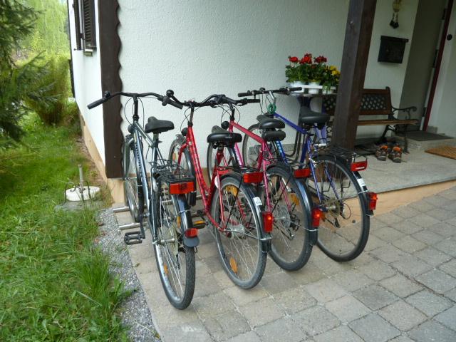 Fahrradstellplatz:vier Fahrräder stehen unseren Gästen kostenlos zur Verfügung.