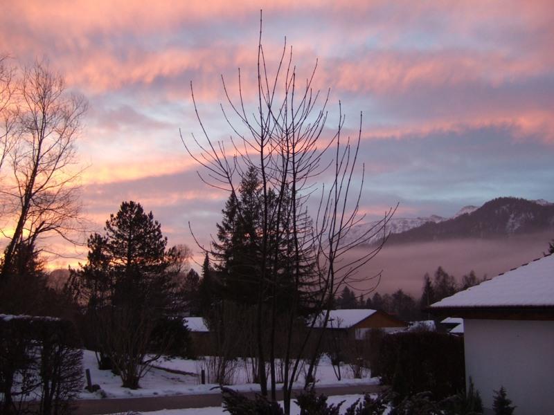 :Sonnenaufgang in der Feriensiedlung