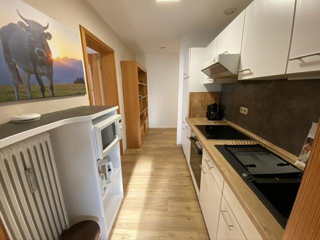 Küche:Einbauküche mit Backherd  Ceranfeld -Kochfeld und Mikrowelle